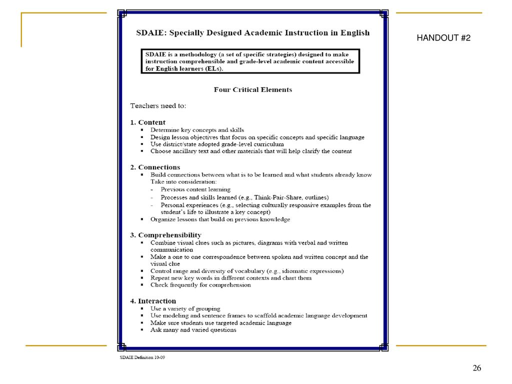 Overview Of Title Iii Plan Data And Review Of Specially Designed Academic Instruction In English Sdaie For K 12 Administrators Session 1 Local District Ppt Download