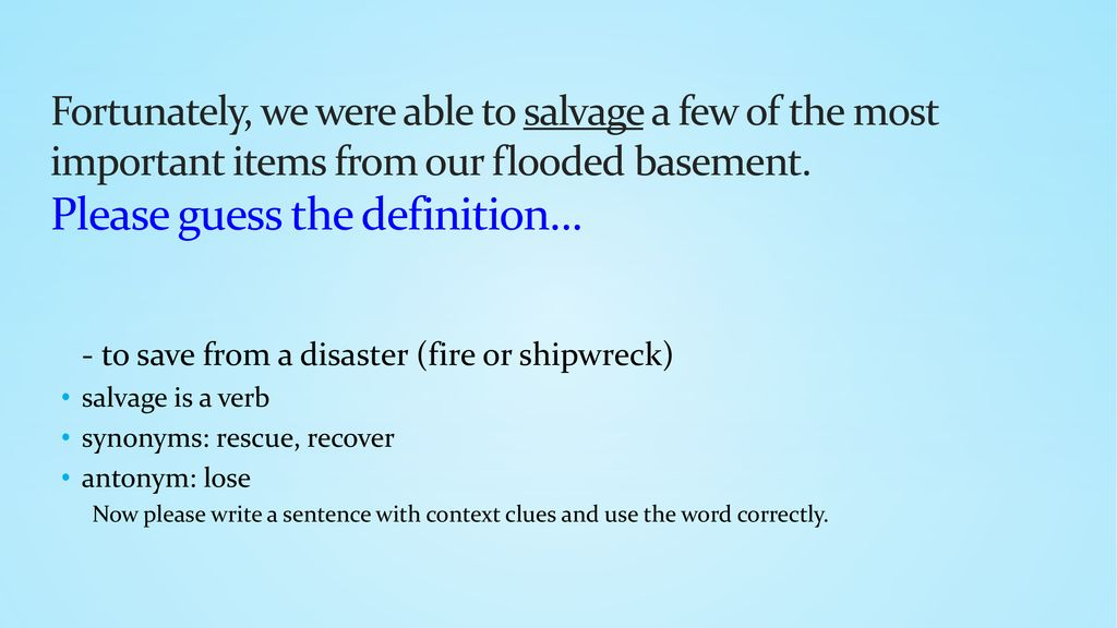 use disaster in a sentence