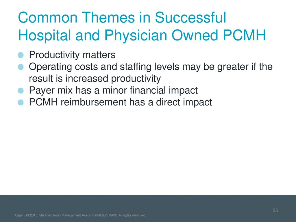 Analyzing the Successful PCMH: What is Different - ppt download