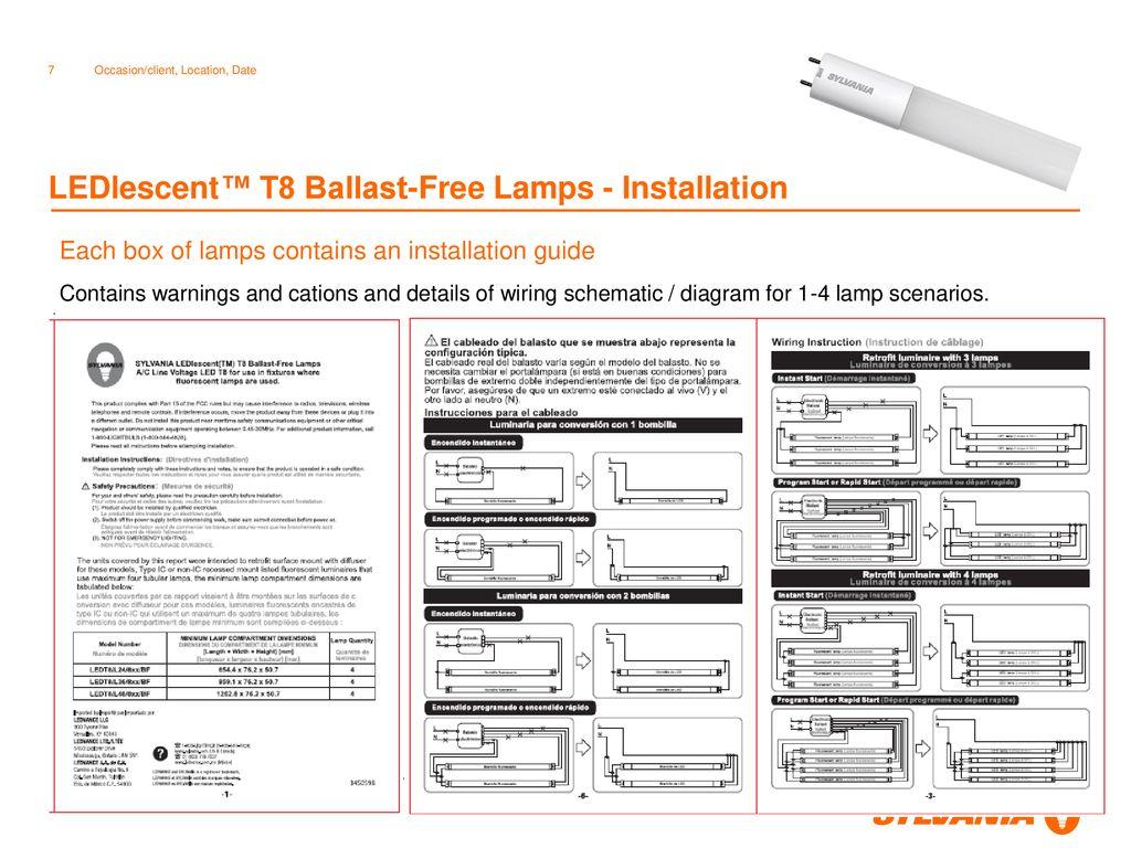[SCHEMATICS_4JK]  LEDlescentTM T8 Ballast-Free Lamps - ppt download | Sylvania Ballast Wiring Diagram |  | SlidePlayer