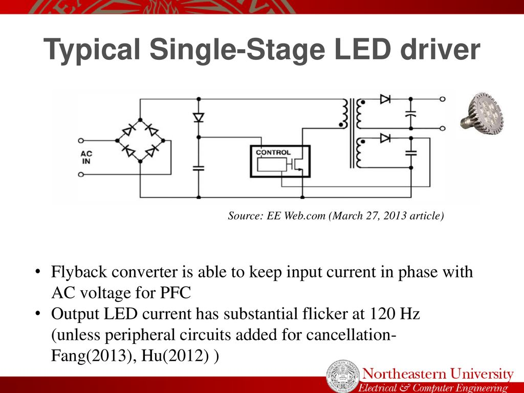 Power Electronic Drivers Influence On Led Light Flicker Ppt Download Output Stage Circuits And Pulse Shapes For Typical Single Driver