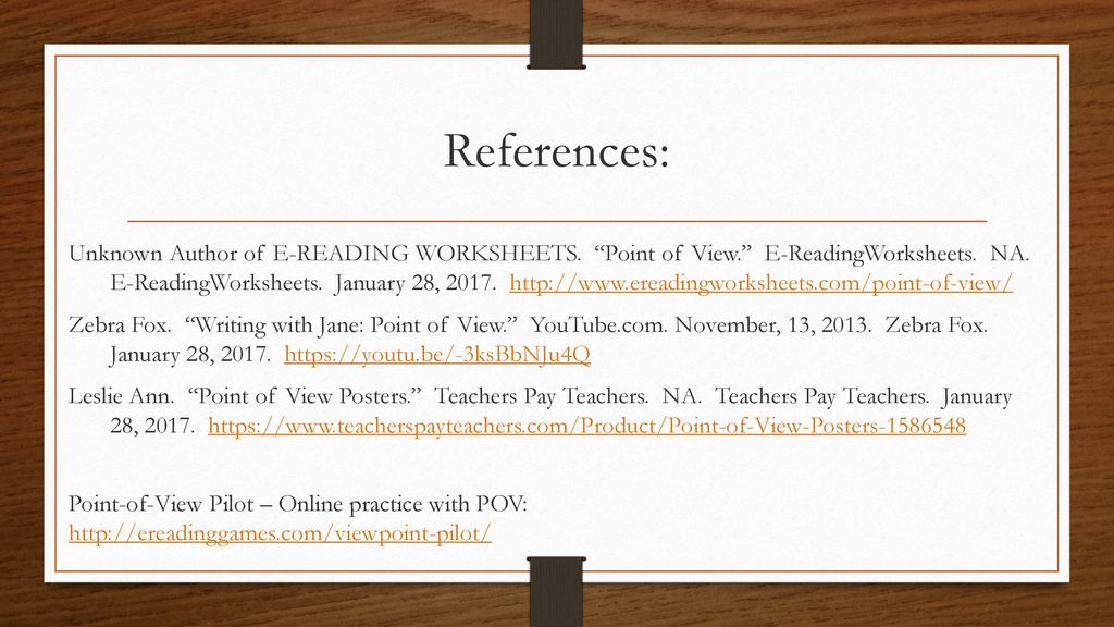 Identifying The Narrator S View Point Ri L 7 6 Ppt Download First and third person points of view are the focus of a worksheet that has four practice passages that allow learners to identify the appropriate perspective. point ri l 7 6