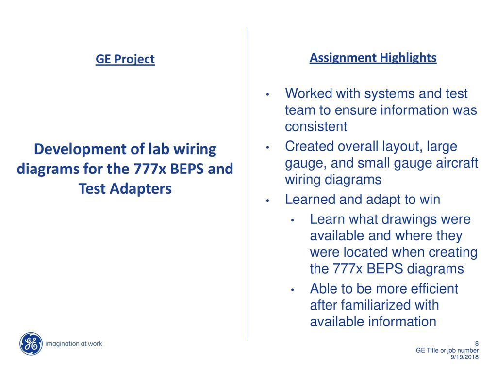 Assignment Leader Mike Blair Manager Brian Cull Ppt Download Wiring Meter Diagram Appalachian Power Development Of Lab Diagrams For The 777x Beps And Test Adapters