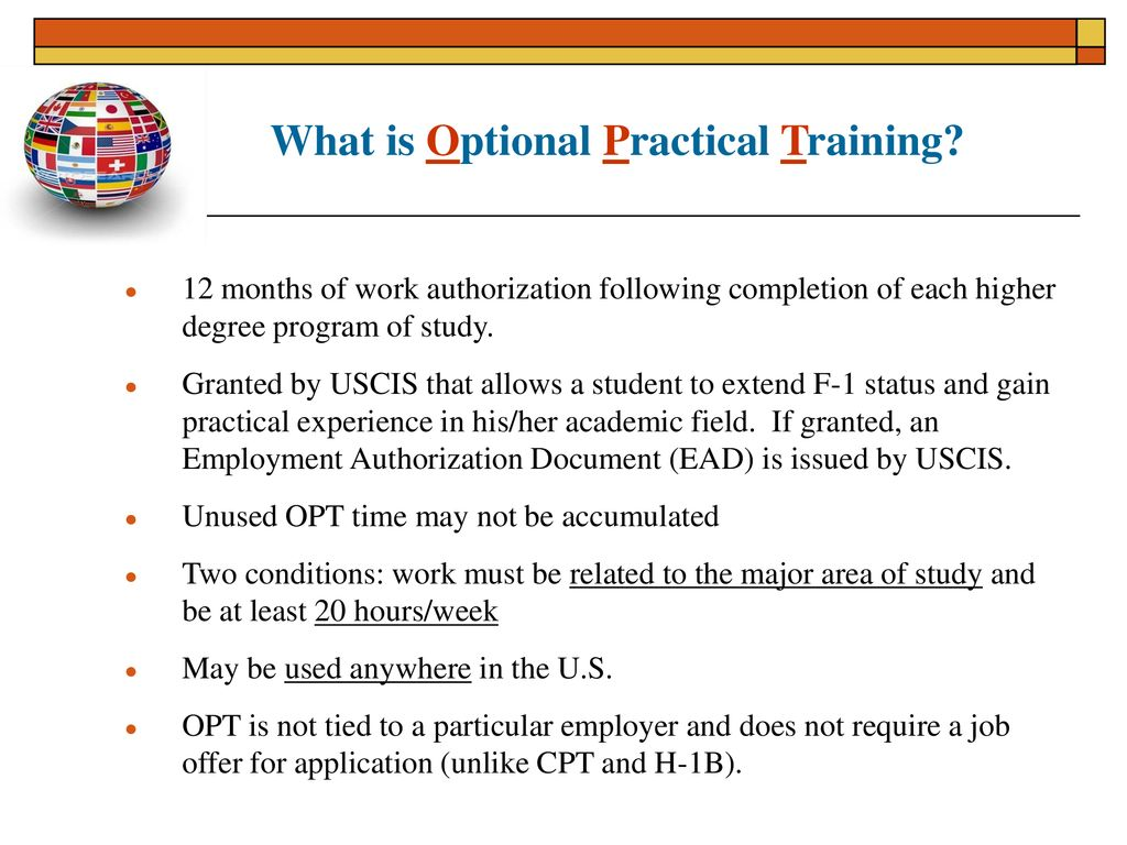 Applying for Optional Practical Training (OPT) Spring ppt download