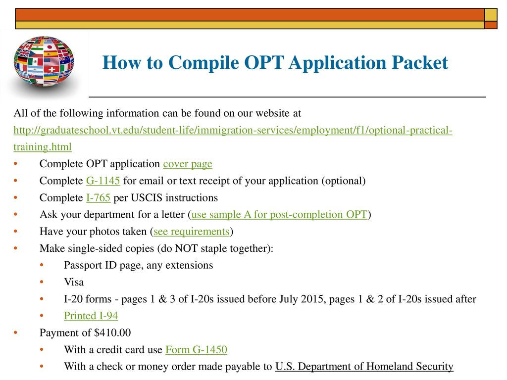 Applying For Optional Practical Training Opt Spring Ppt Download