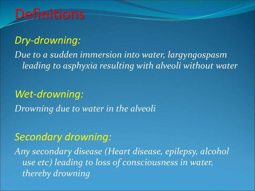 DROWNING AND NEAR-DROWNING - ppt download