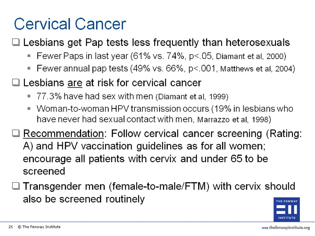 Think, Hpv and lesbian