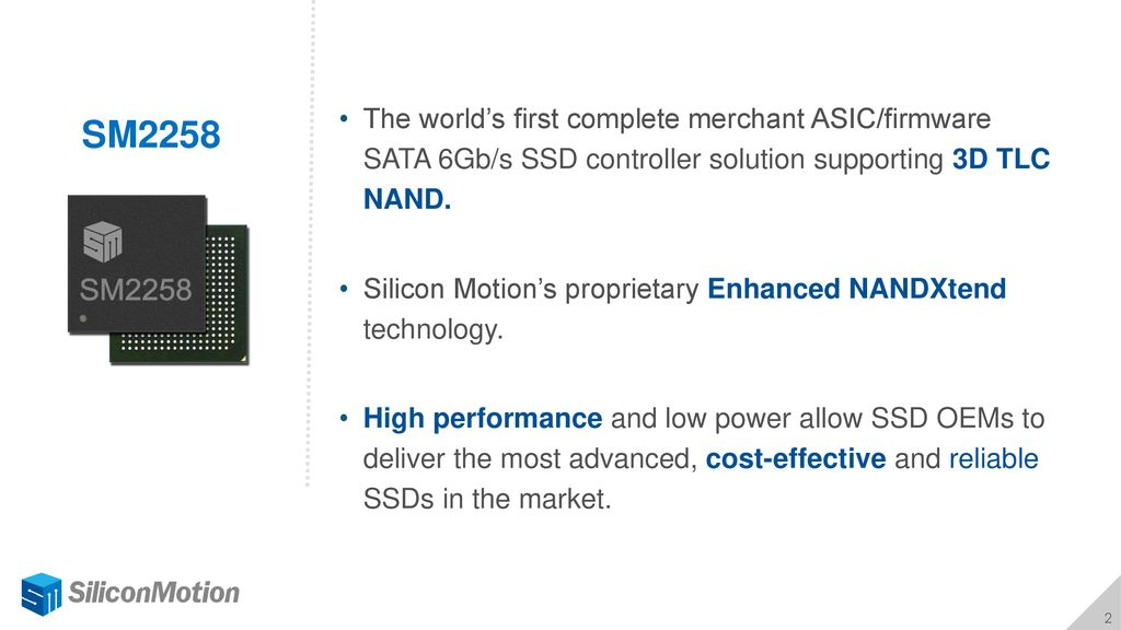 SATA 6Gb/s SSD Controller Solution Supporting 3D TLC NAND
