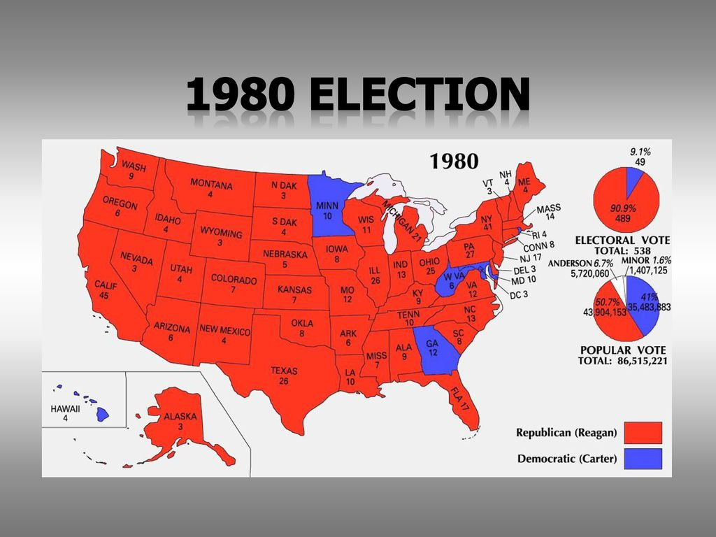 CH : The Reagan Era AMH Honors Mr. ell CBHS. - ppt download  Electoral Map on