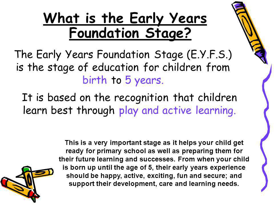 What is the Early Years Foundation Stage