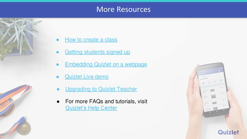 Getting Started with Quizlet A Presentation for Teachers