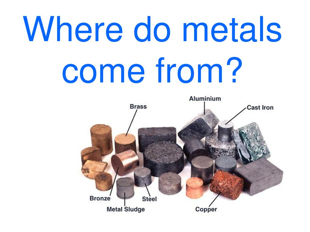 Where Do Metals Come From Ppt Download
