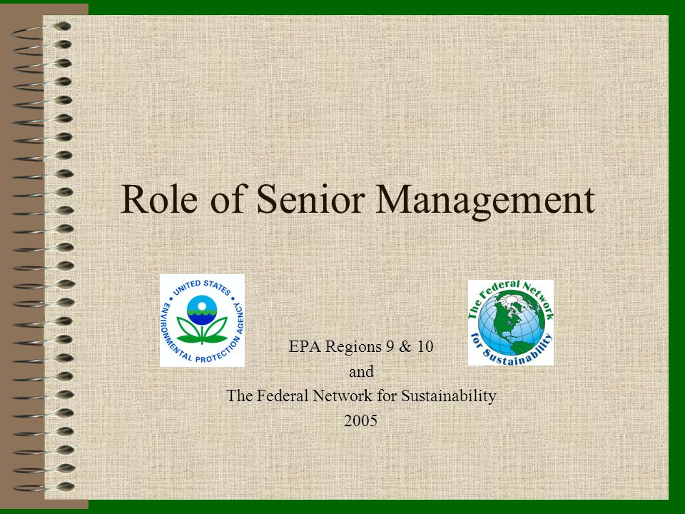 Role of Senior Management