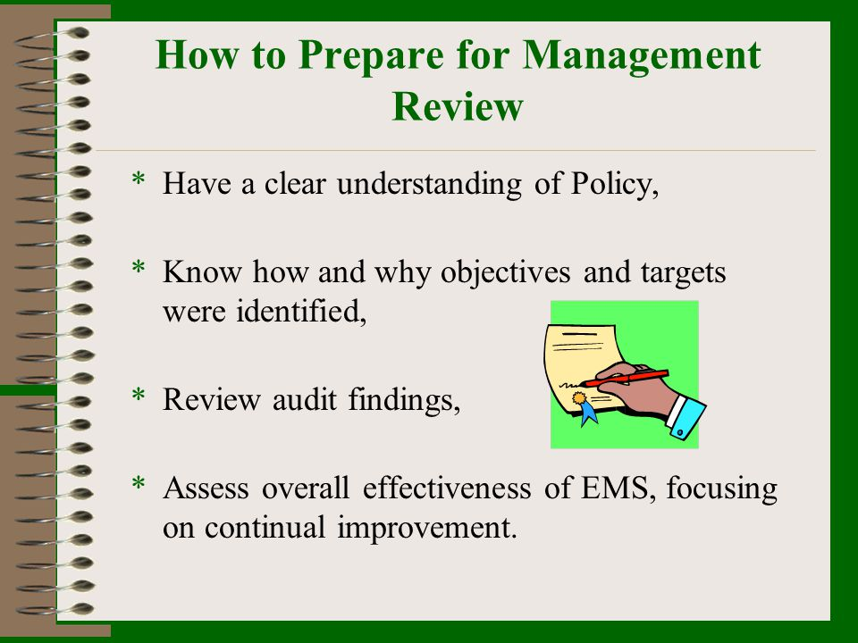 How to Prepare for Management Review