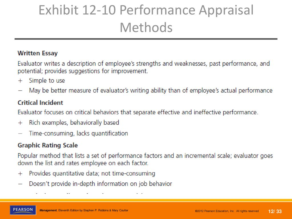which performance appraisal methods consumes a lot of time