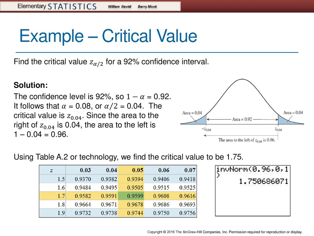 12 Example Critical Value