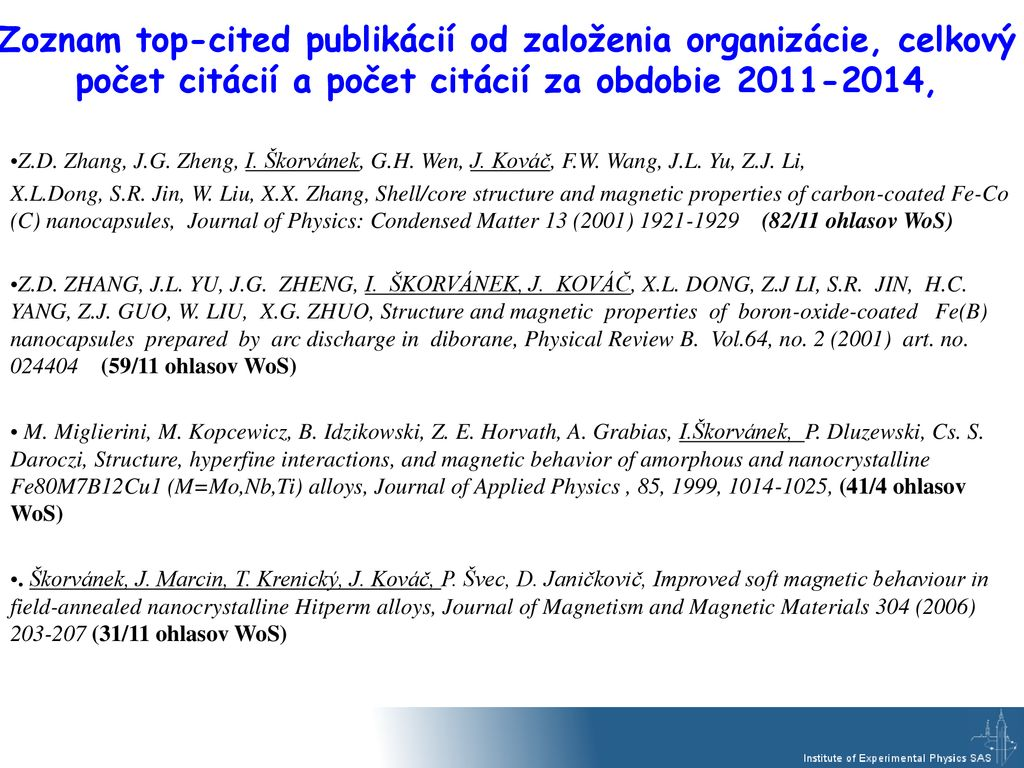 Journal Of Applied Physics Condensed Matter