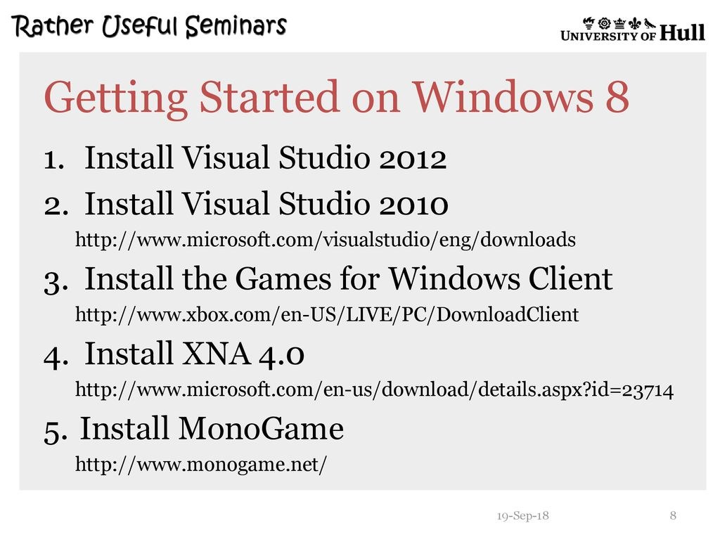 MonoGame and Windows ppt download