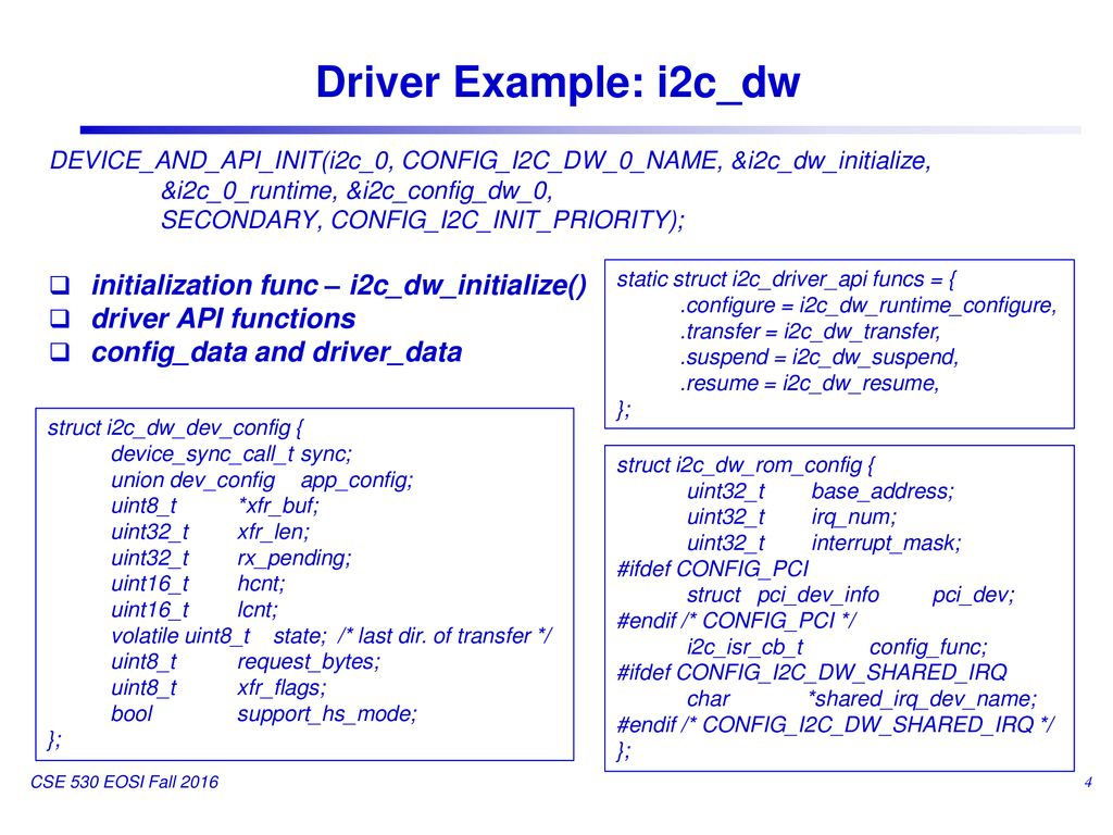 Zephyr Device Driver and Device Model - ppt download
