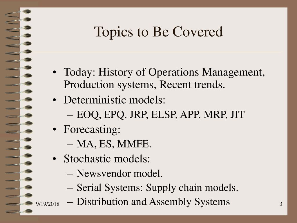 Production Management IEOR ppt download