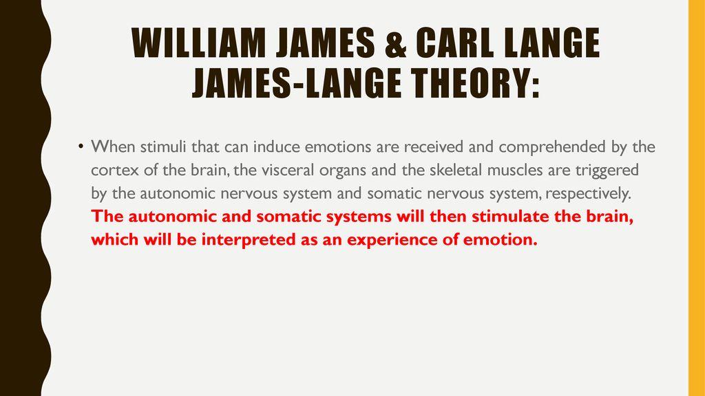 william james and carl lange