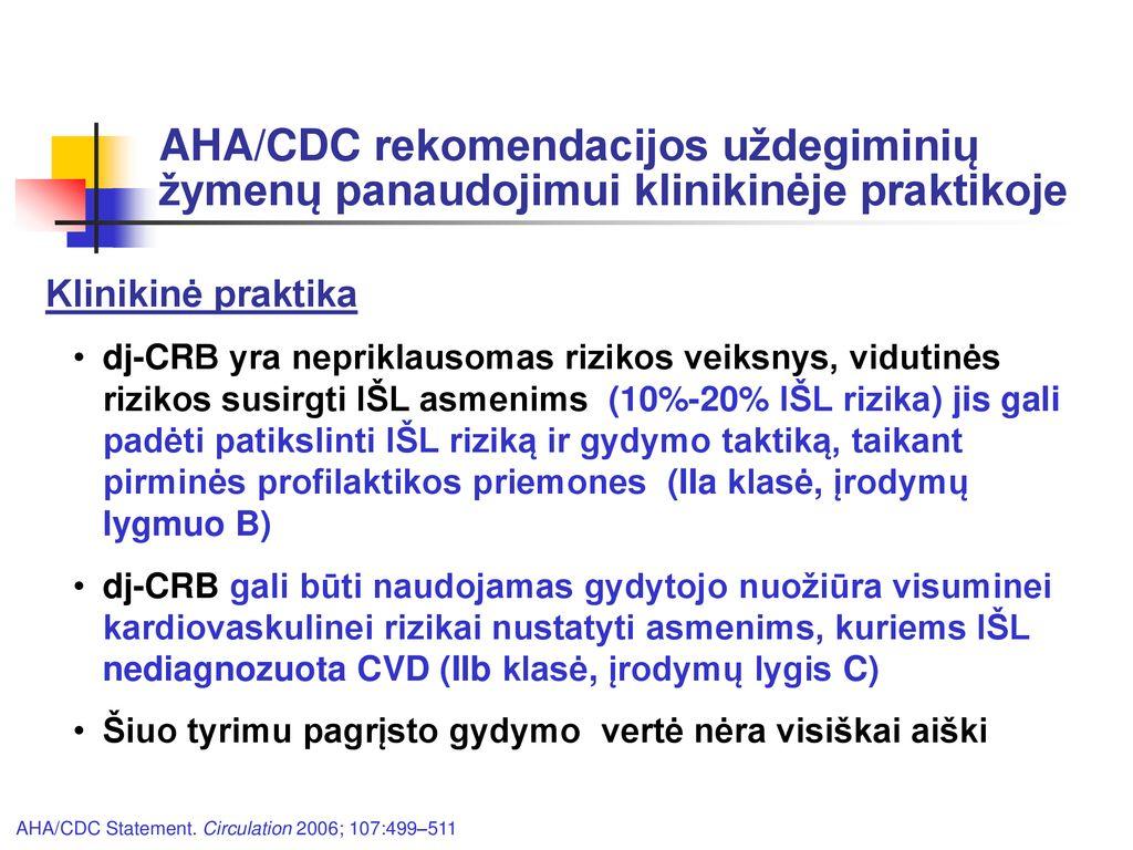 c-reaktyvus baltymas hipertenzijai gydyti su amžiumi susijęs hipertenzijos gydymas