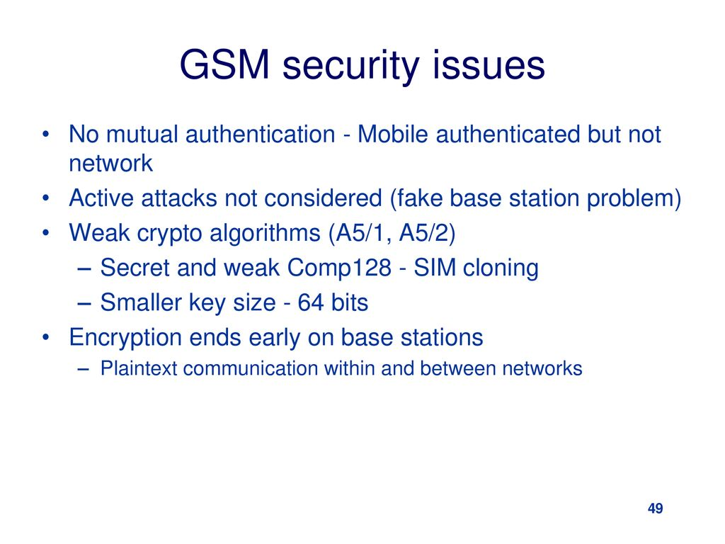 Special Topic: Mobile Security Part II – GSM and UMTS
