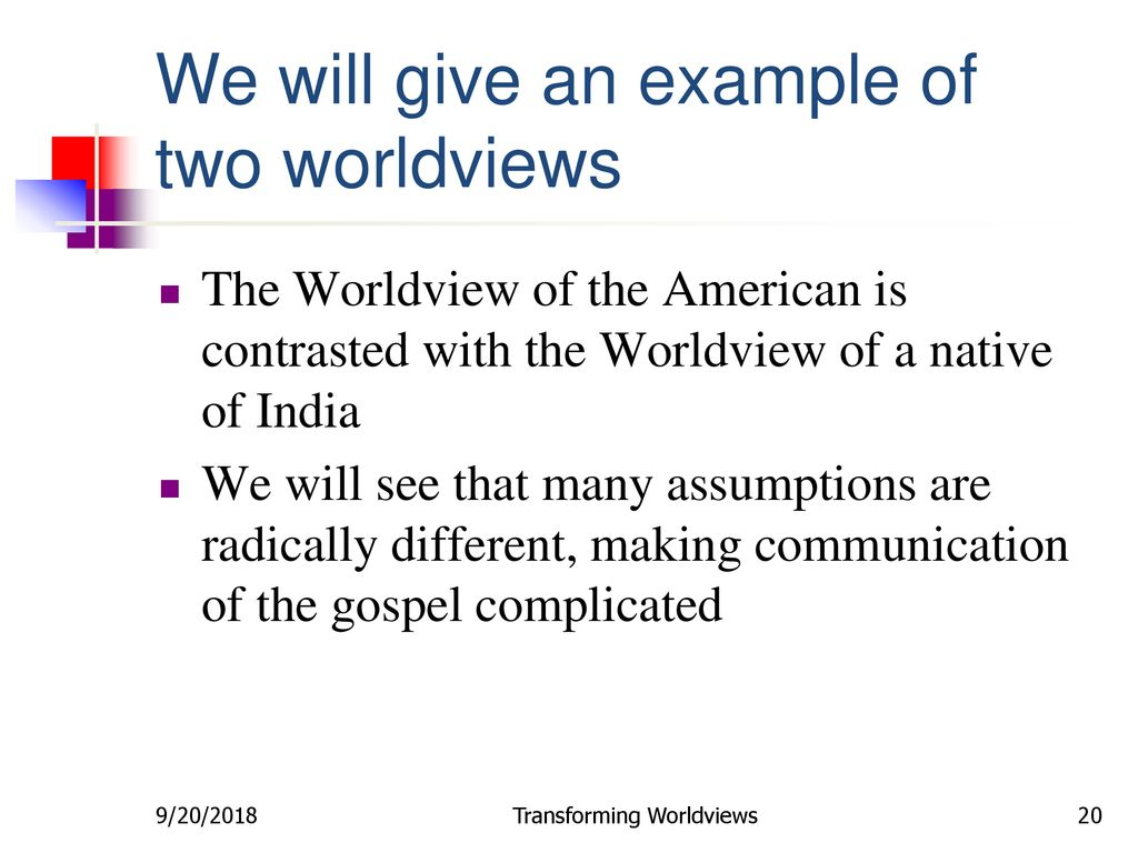 what are some examples of worldviews