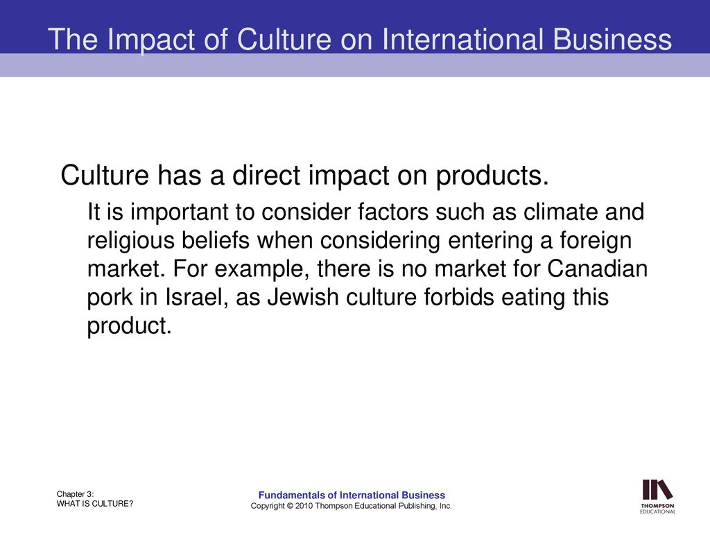 Impact of culture on international business essay 1.