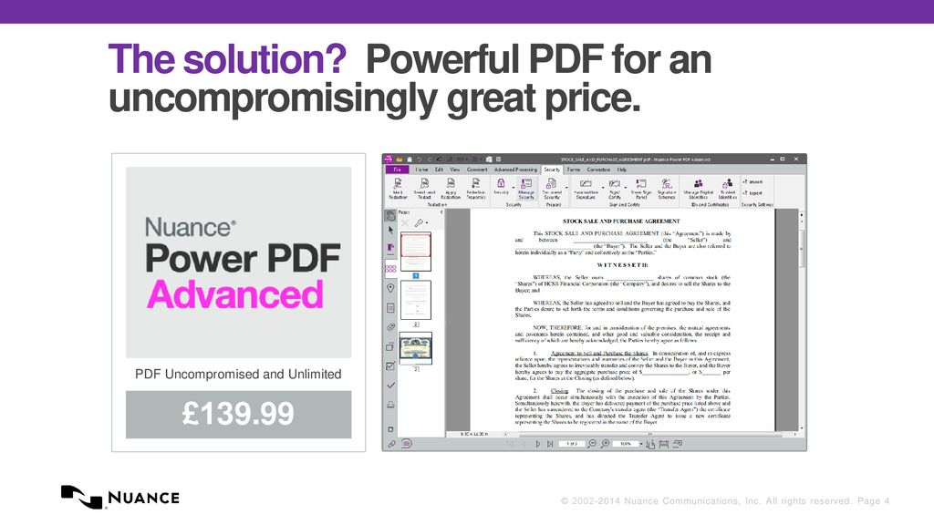 Introducing Nuance Power PDF for Financial Services - ppt
