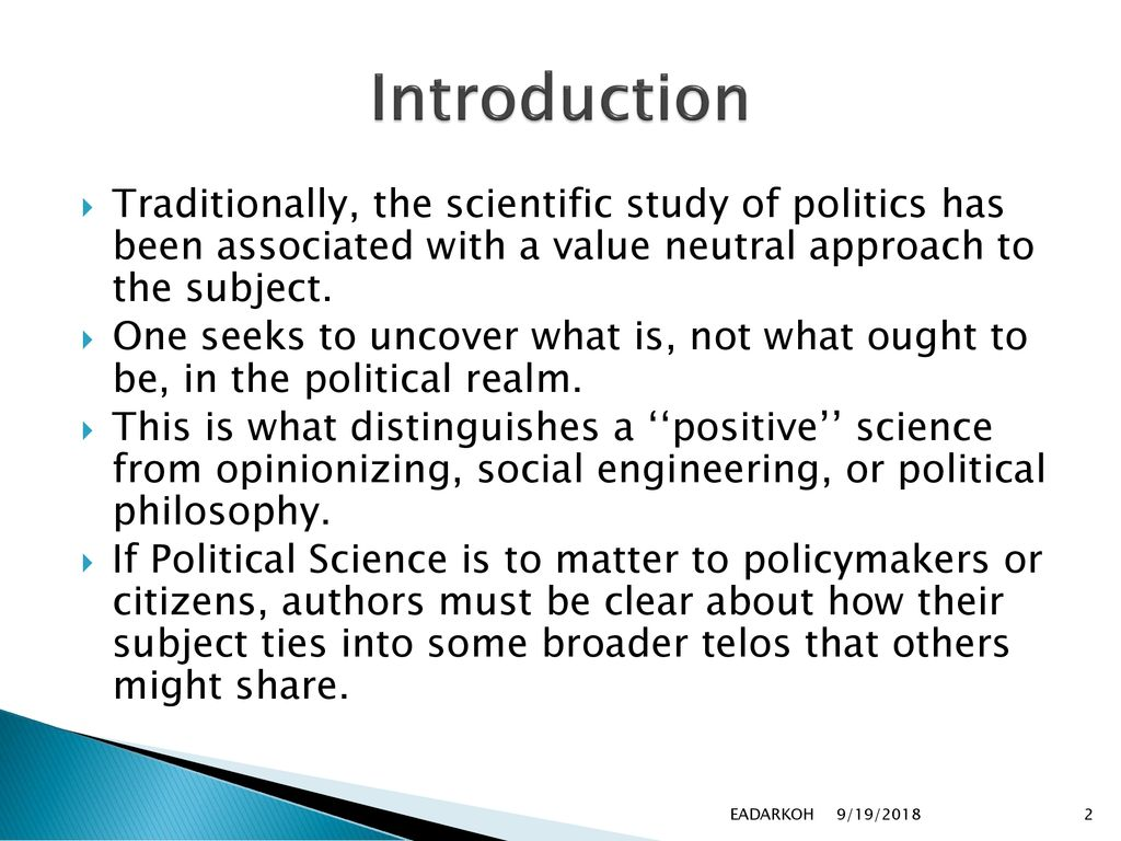 Approaches to the study of politics - LawAspect.com
