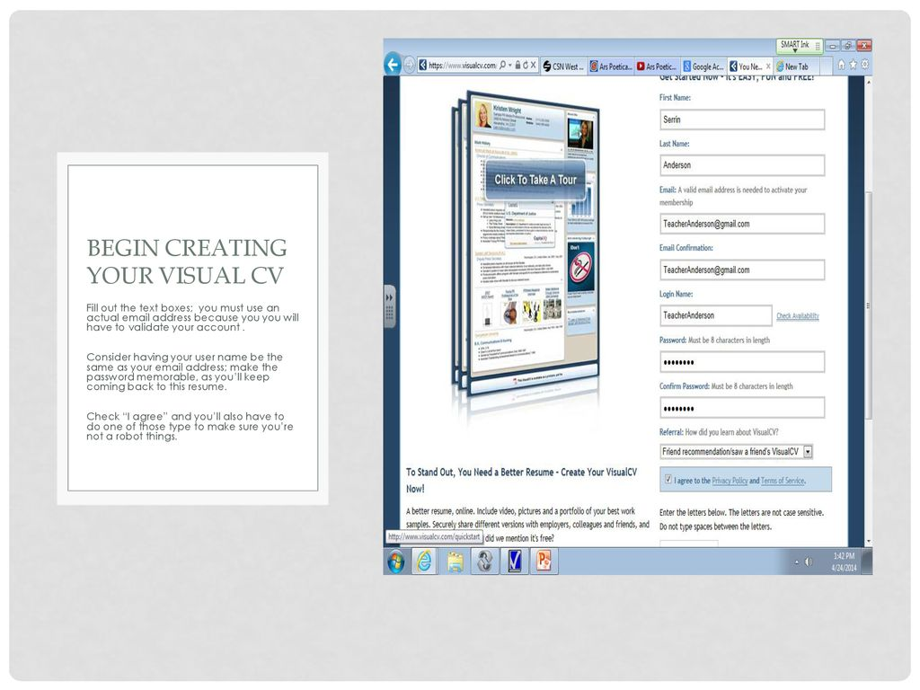 Why Visual Cv Instead Of A Traditional Paper Resume Ppt Download