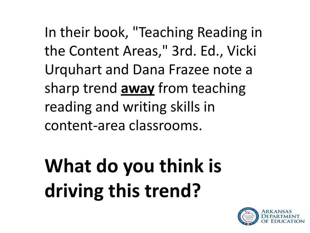 teaching reading in the content areas urquhart vicki frazee dana