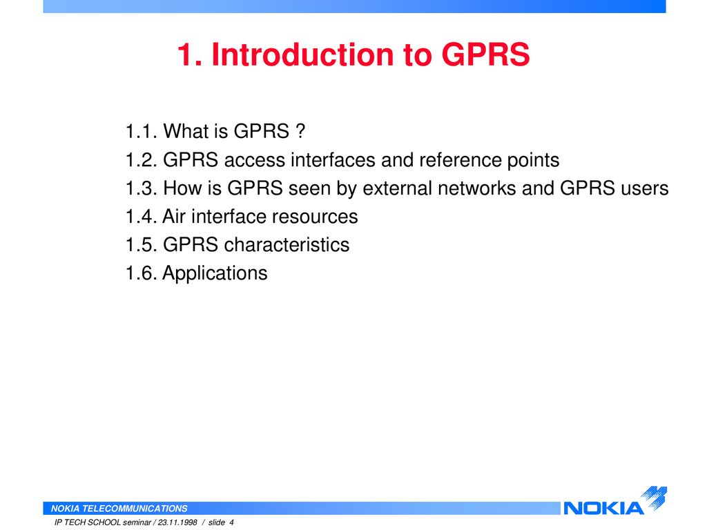 What is GPRS 33