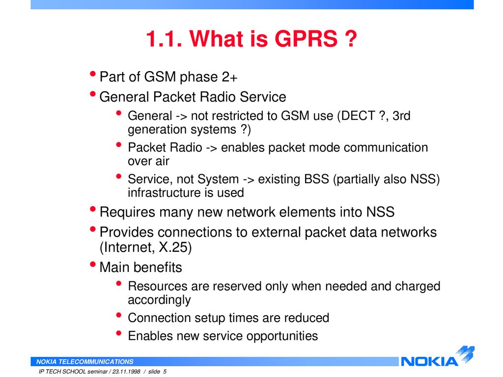 What is GPRS 27