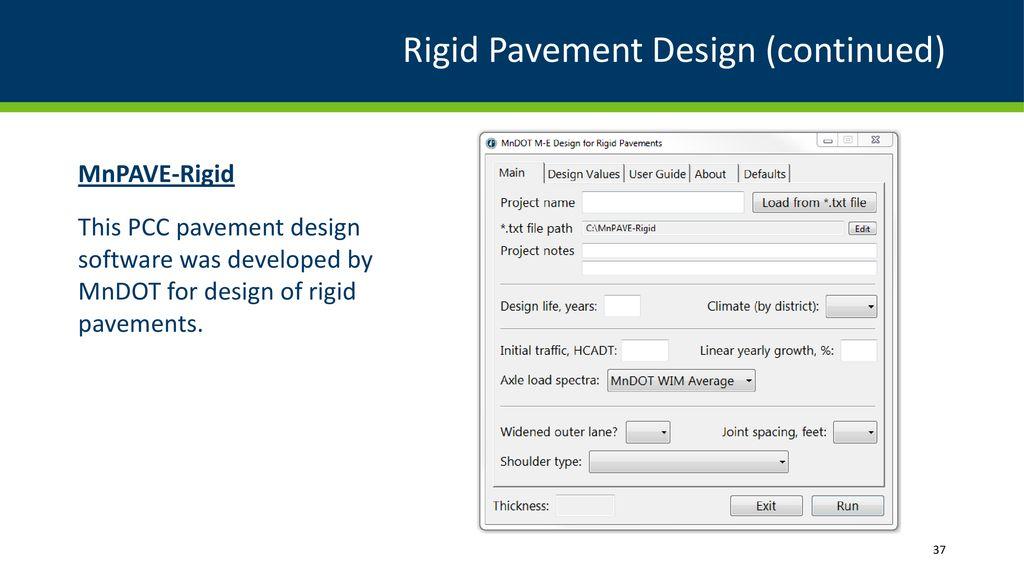 Pavement Design Guidance Ppt Download