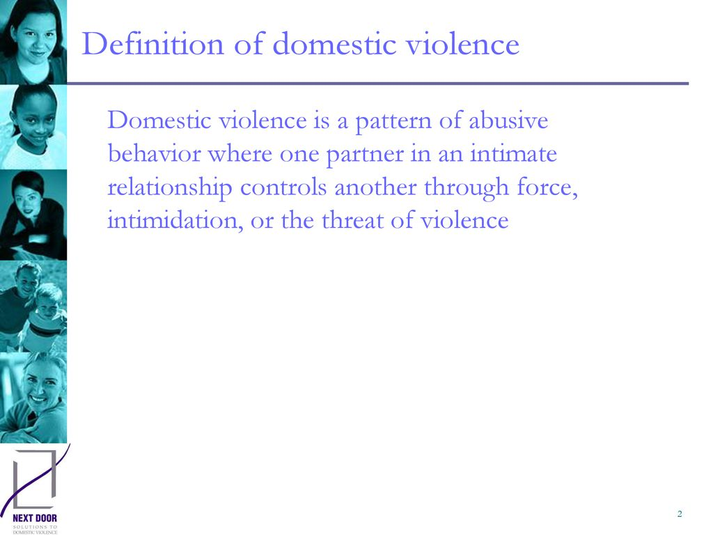 definition of domestic violence - ppt download