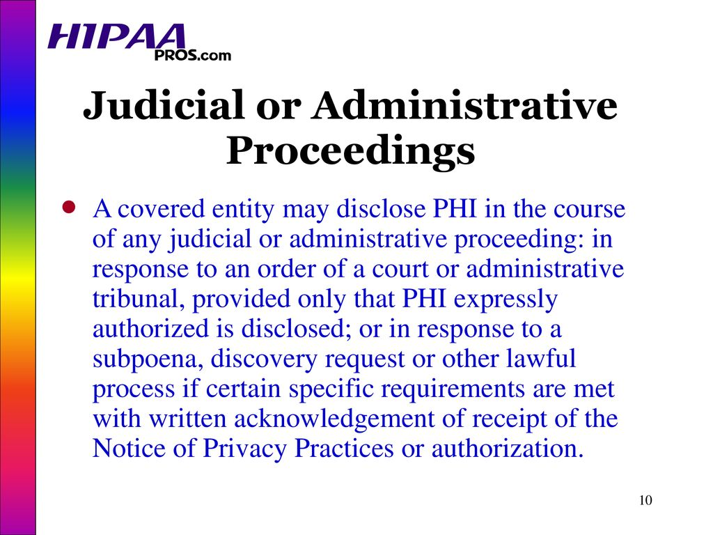 HIPAA Pros - Disclosures - ppt download