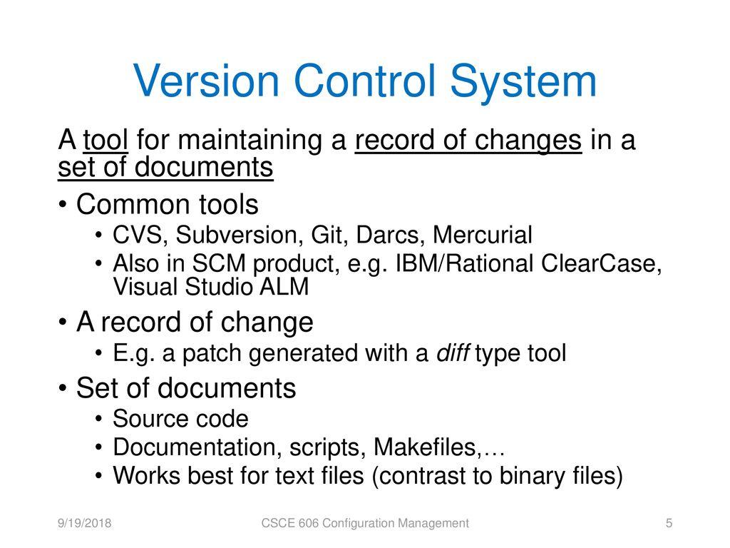 CSCE 606: Configuration Management - ppt download