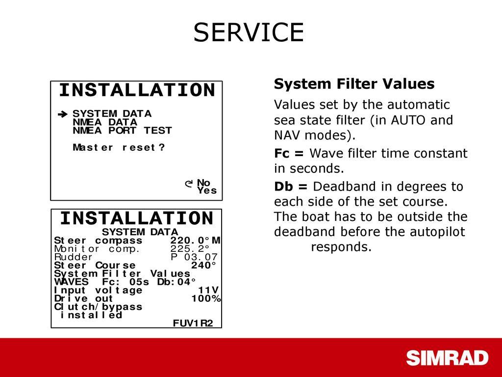 Simrad AP50 Autopilot  - ppt download