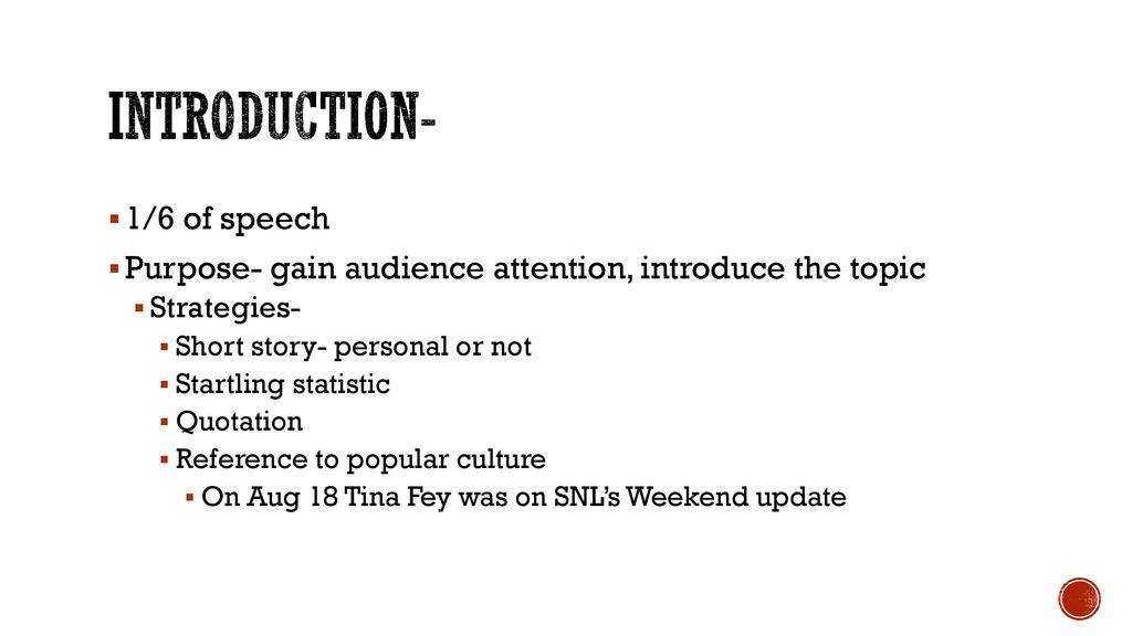 popular culture speech topics