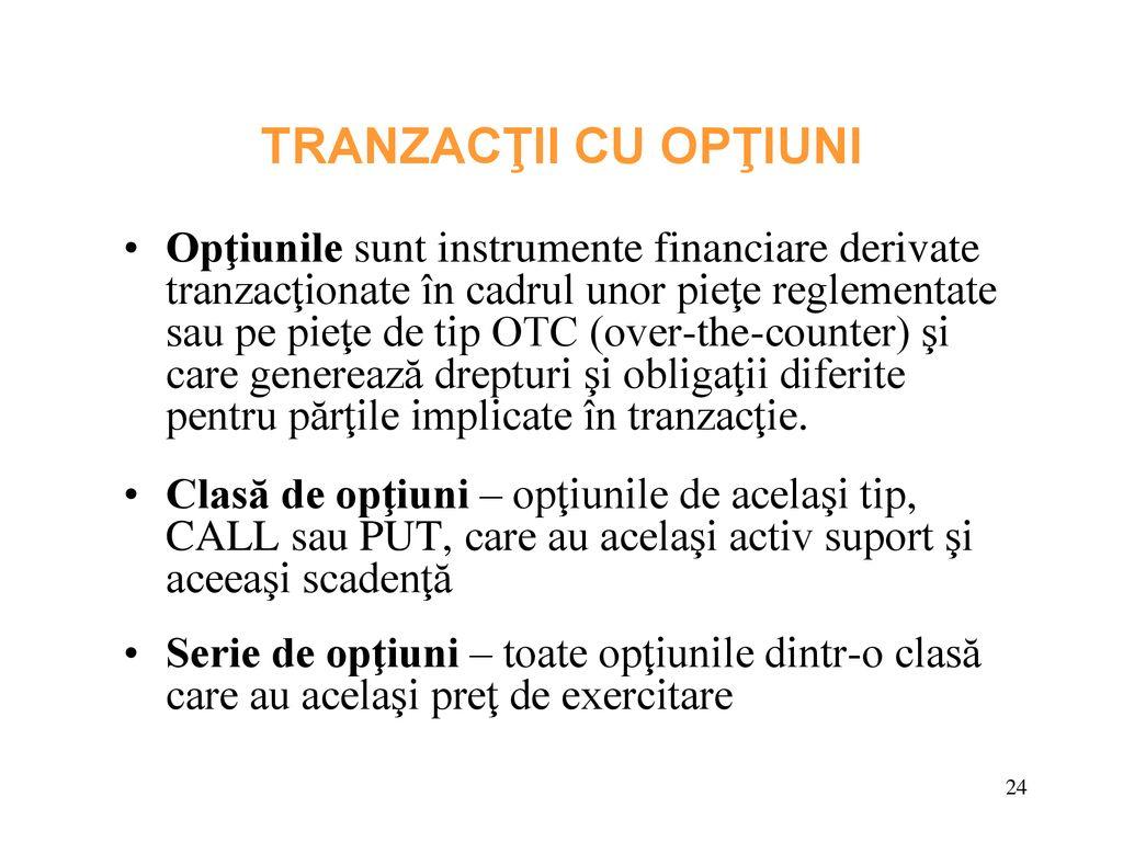 Tranzactii swap - Tradeville