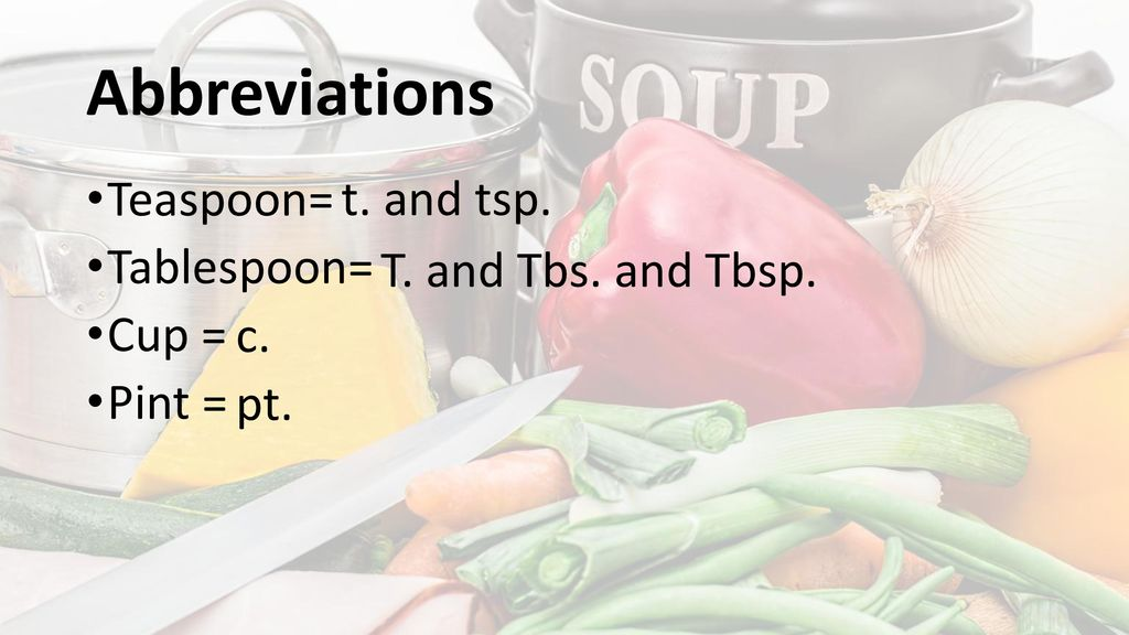 Recipes And Measurements Ppt Download