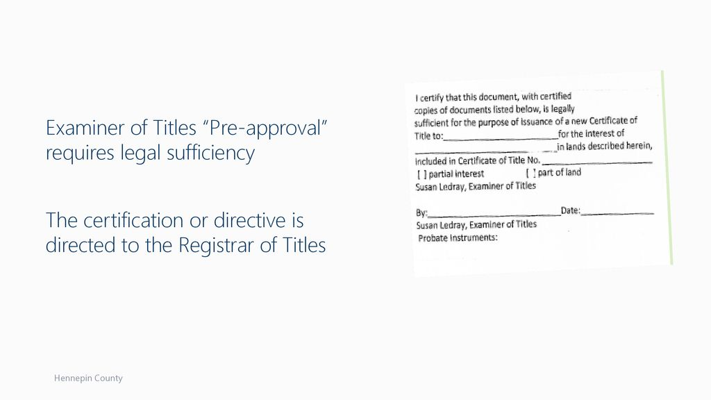 Pre Approval Of Torrens Documents Ppt Download
