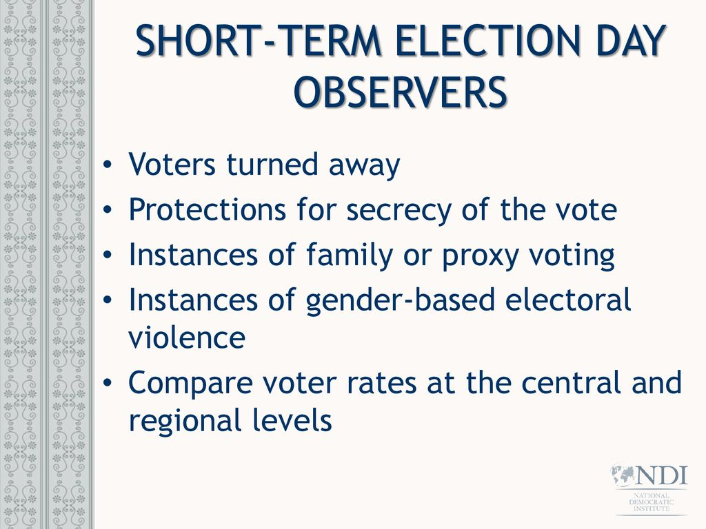 Gender and Election Observation Women and Elections - ppt
