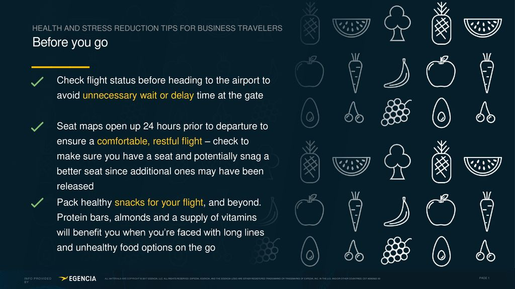 HEALTH AND STRESS REDUCTION TIPS FOR BUSINESS TRAVELERS