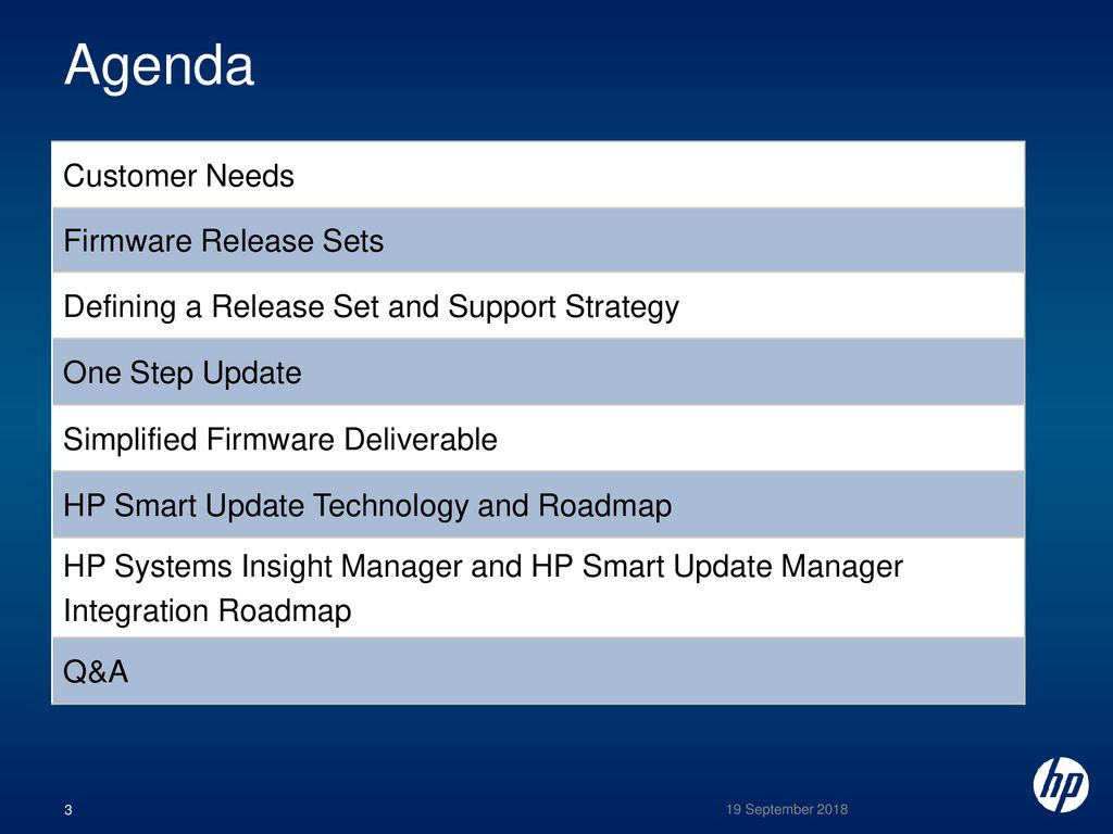 HP BladeSystem Firmware Release Sets - ppt download