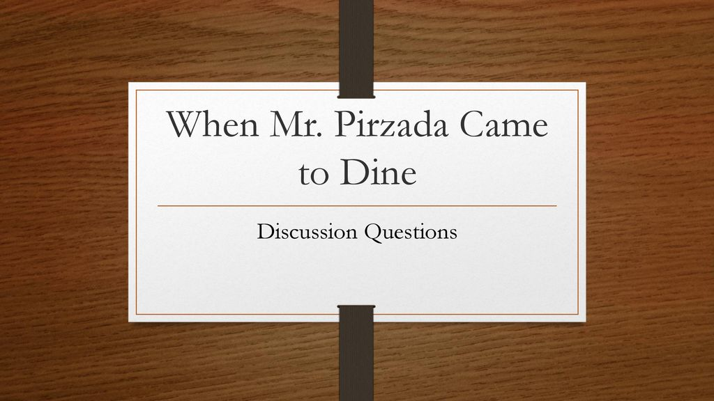 when mr pirzada came to dine character analysis