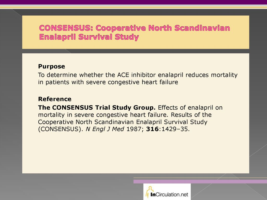 CONSENSUS: Cooperative North Scandinavian Enalapril Survival Study