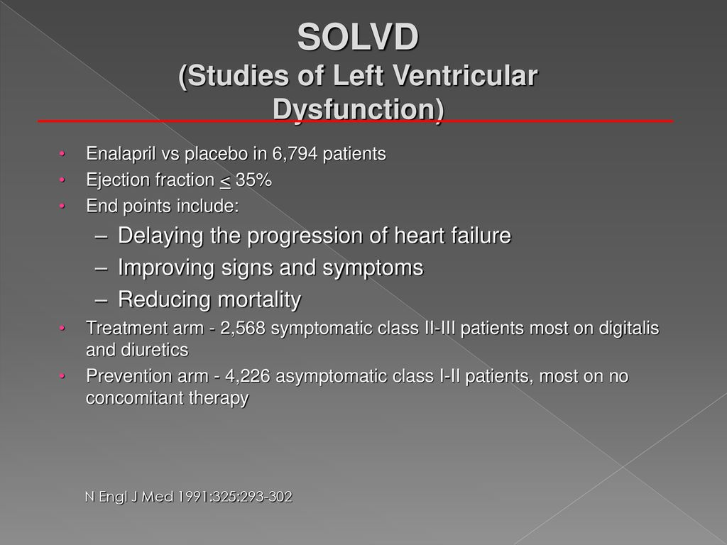 SOLVD (Studies of Left Ventricular Dysfunction)